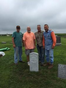 Danny Krock, Mike Rowley, Bob Gannon and Jim Byal, Commander of Mingo American Legion
